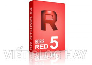phần mềm chỉnh sửa video Boris RED 5.6 Portable