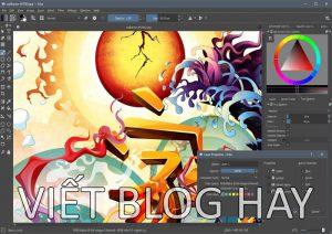 Phần mềm vẽ tranh Krita Studio 4.4.2 Portable