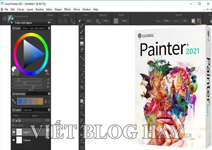 Phần mềm vẽ tranh Corel Painter 2021 Portable